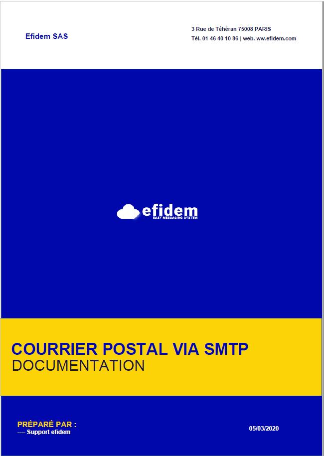 COURRIER POSTAL VIA SMTP