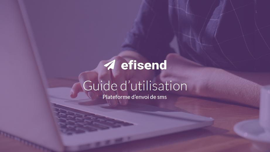 Guide utilisateur SMS efisend