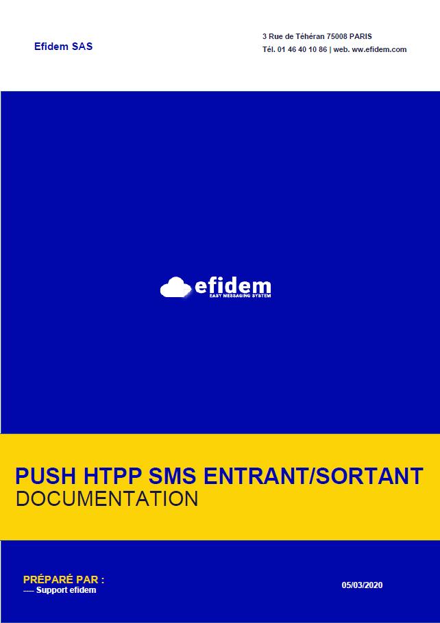Push HTTP SMS EFIDEM