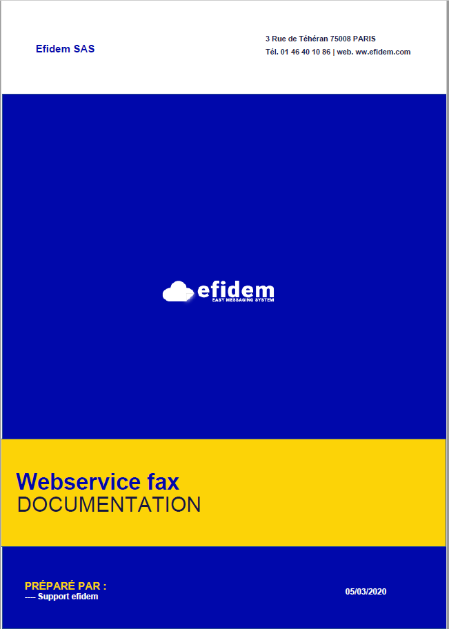 Webservice fax efidem
